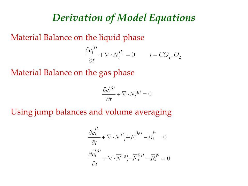 Molar flux vector in the liquid phase Molar flux vector in the gas phase By volume averaging the molar flux vectors become