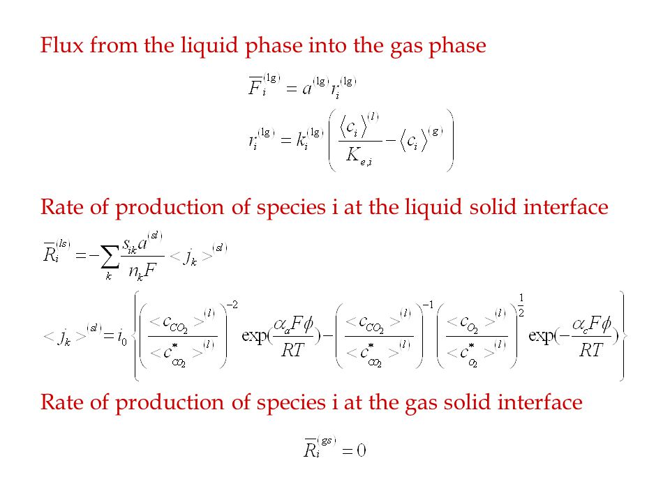 Also By volume averaging the equations become Ohm's law in the liquid and solid phases