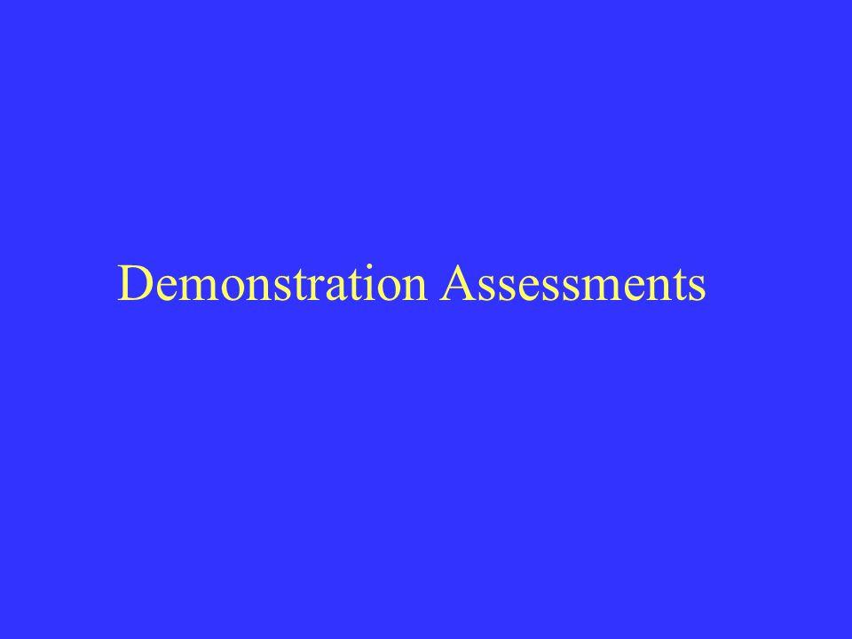 Demonstration Assessments