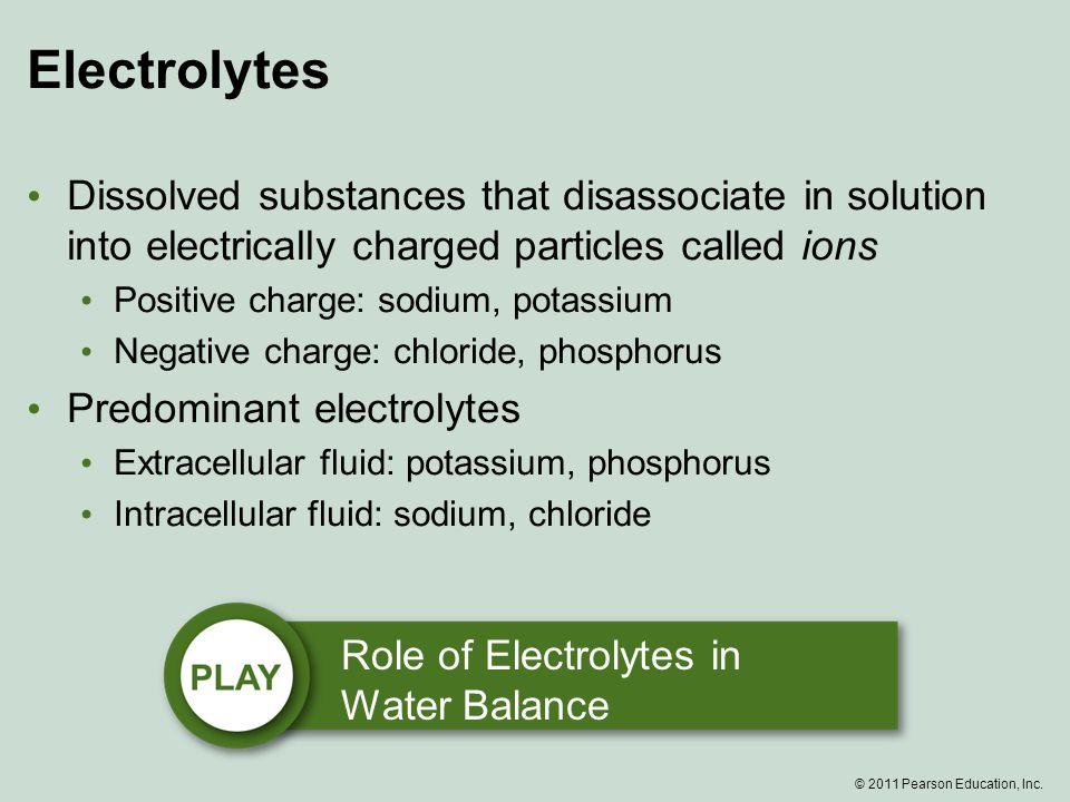 © 2011 Pearson Education, Inc.Potassium What happens if you don't consume enough potassium.