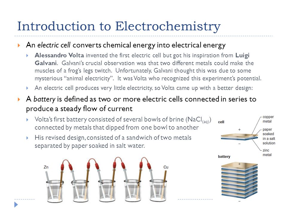 Voltaic Cells with Inert Electrodes  Inert electrodes are needed when the SOA or SRA involved in the reaction is not solid.