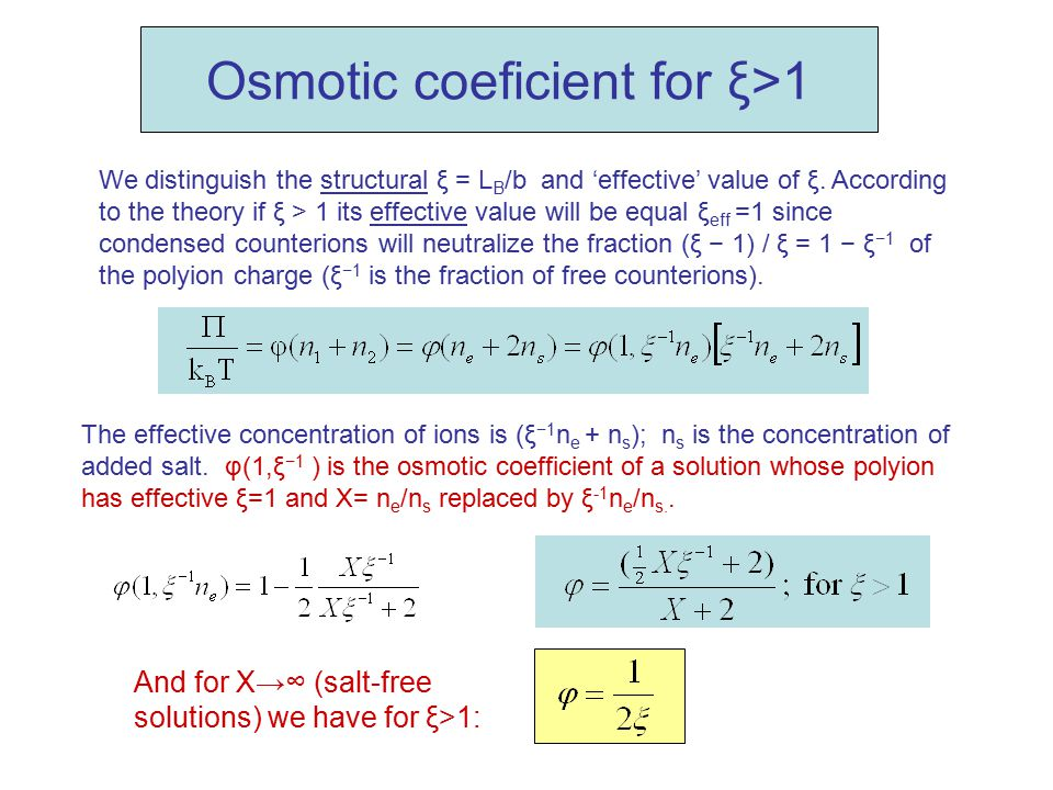 We distinguish the structural ξ = L B /b and 'effective' value of ξ. According to the theory if ξ > 1 its effective value will be equal ξ eff =1 since