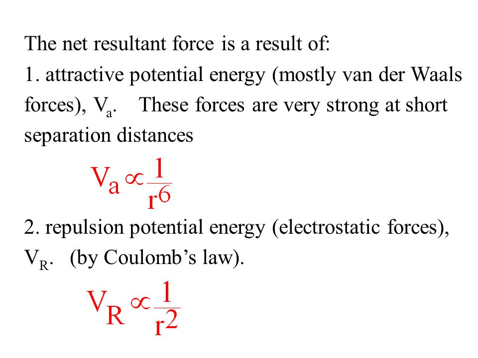 The net resultant force is a result of: 1.