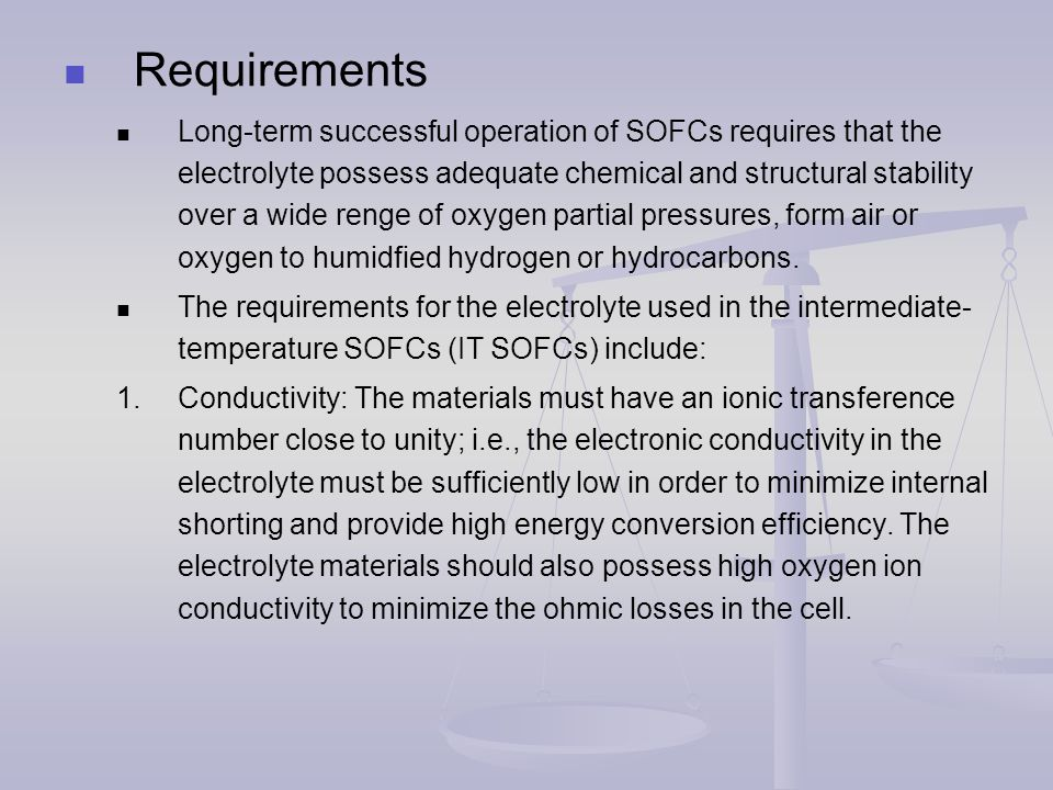 Corrosion and Protection of Metallic Interconnects Among the various types of fuel cells, solid-oxide fuel cells (SOFCs) operate at high temperature (typically 650 to 1,000 ℃ ) and have advantages in term of high conversion efficiency and the flexibility of using hydrocarbon fuels, in addition to hydrogen.