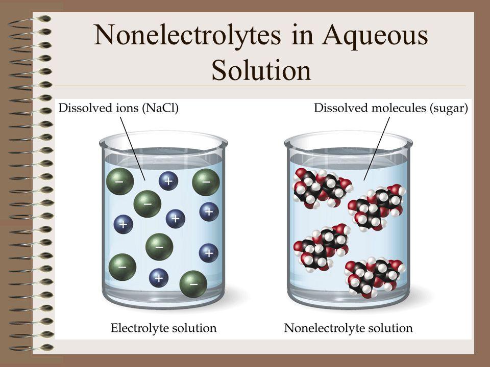 Nonelectrolytes in Aqueous Solution