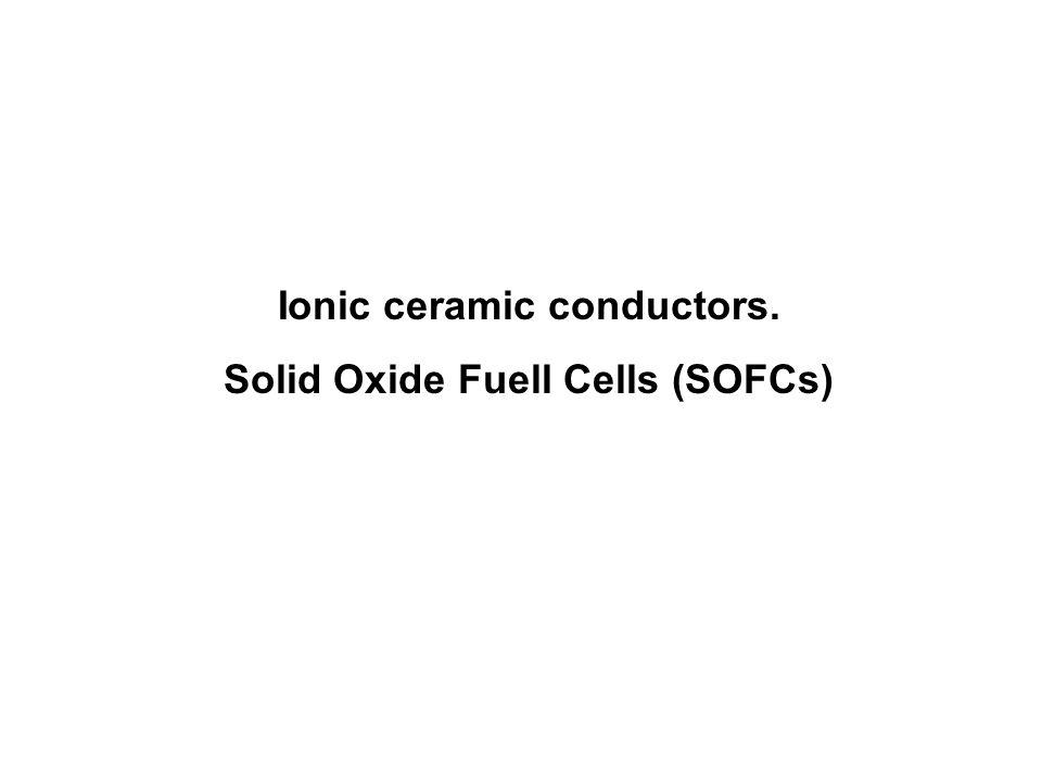 SOFCs.Electrolytes Y x Ce 1-x O 2-δ Conductivity (S cm -1 ) Y 2 O 3 mol.