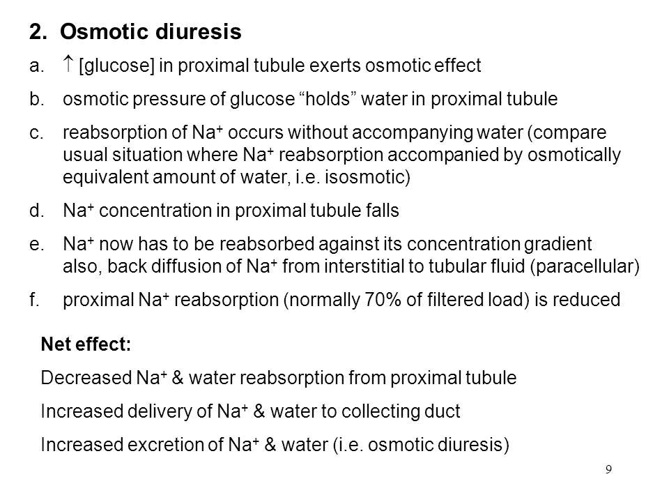9 2. Osmotic diuresis a.