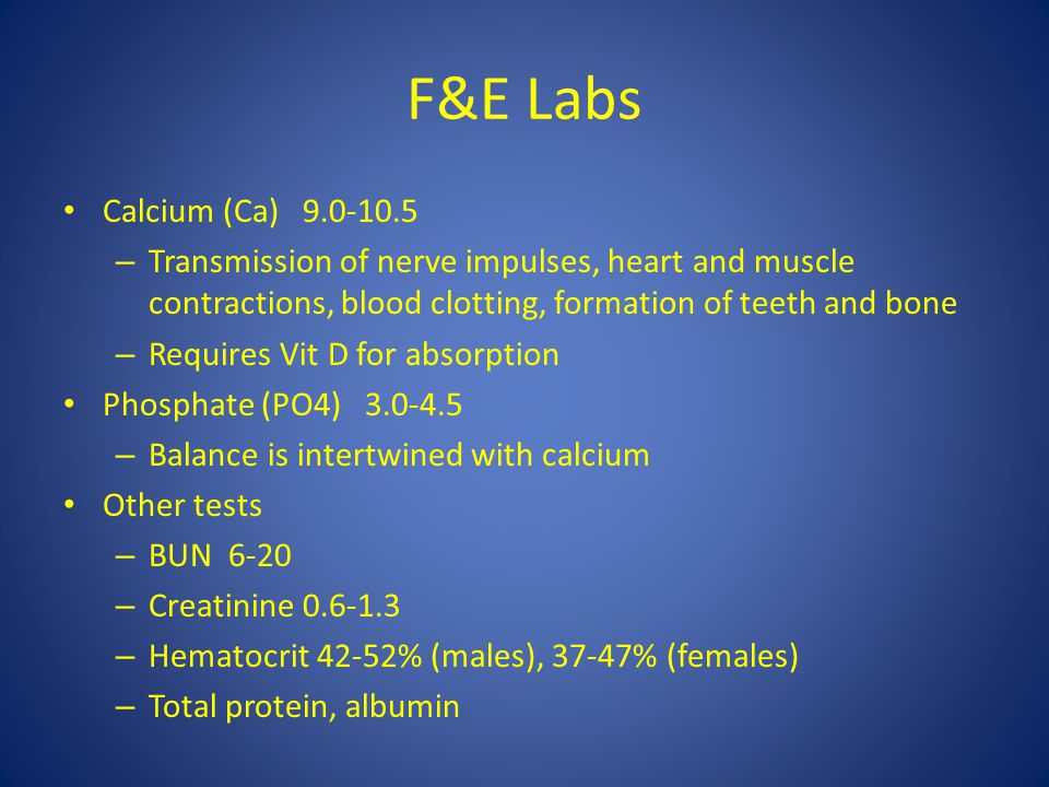 F&E Labs Calcium (Ca) 9.0-10.5 – Transmission of nerve impulses, heart and muscle contractions, blood clotting, formation of teeth and bone – Requires