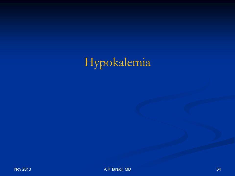 Nov 2013 54A R Tarakji, MD Hypokalemia