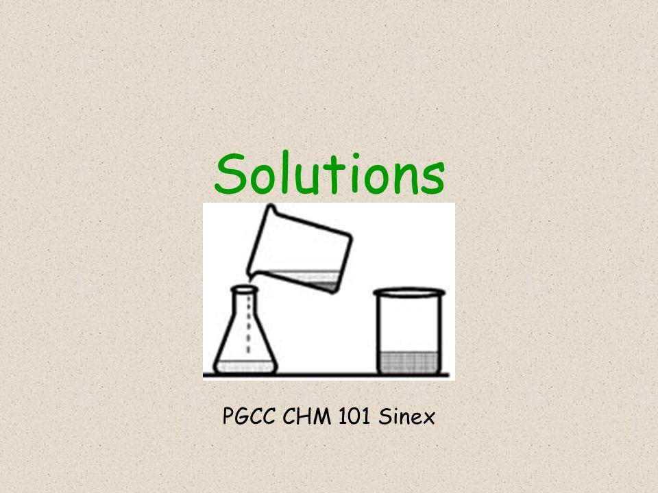 Solutions PGCC CHM 101 Sinex