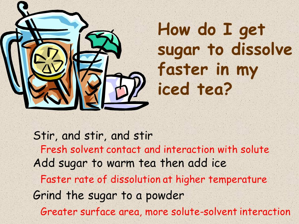 How do I get sugar to dissolve faster in my iced tea.