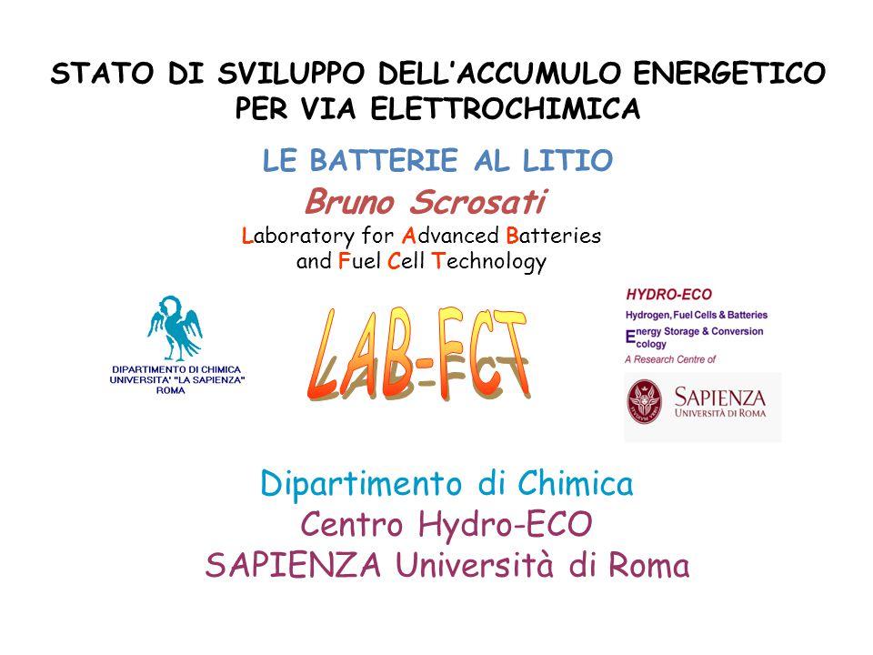 Bruno Scrosati Laboratory for Advanced Batteries and Fuel Cell Technology Dipartimento di Chimica Centro Hydro-ECO SAPIENZA Università di Roma STATO D