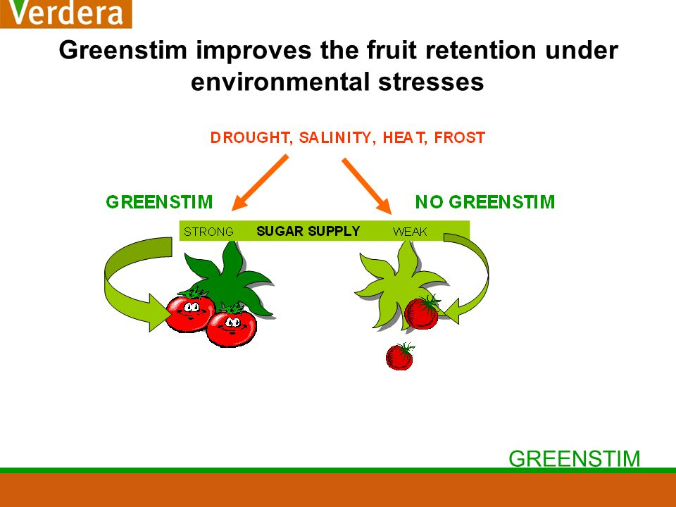 GREENSTIM Greenstim improves the fruit retention under environmental stresses