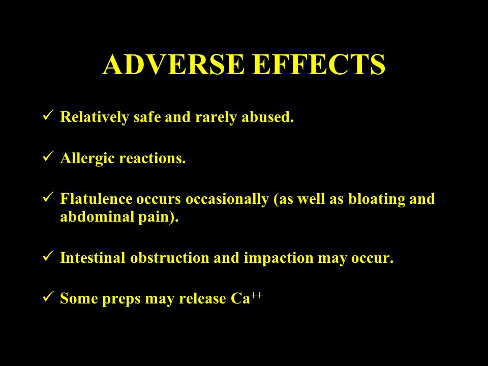 ADVERSE EFFECTS Relatively safe and rarely abused.