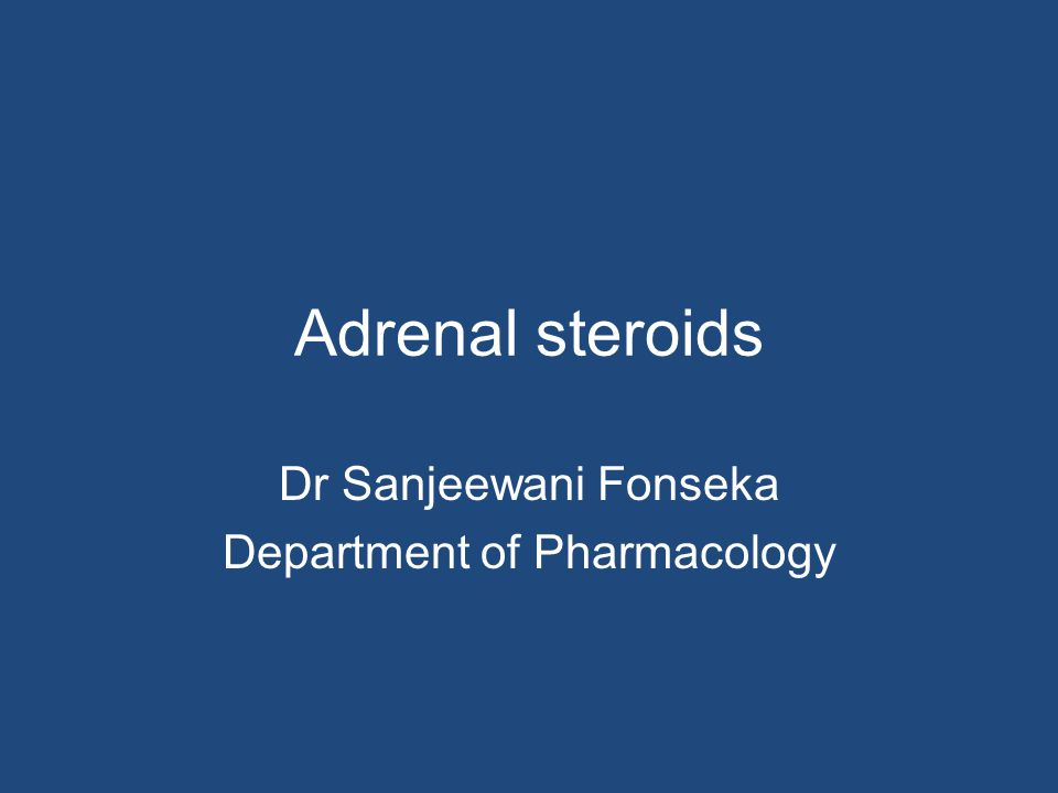 Objectives Recall the physiological effect of adrenocortical steroids Describe the anti- inflammatory and immunosuppressive effects of glucocorticoids Compare the relative potency, glucocorticoid/mineralocorticoid activity and duration of action of commonly available steroid drugs List clinical uses and adverse effects of glucocorticoid drugs Explain the principles underling replacement therapy in adrenocortical insufficiency Describe the precautions that can be taken to minimize the adverse effects of long-term steroid therapy