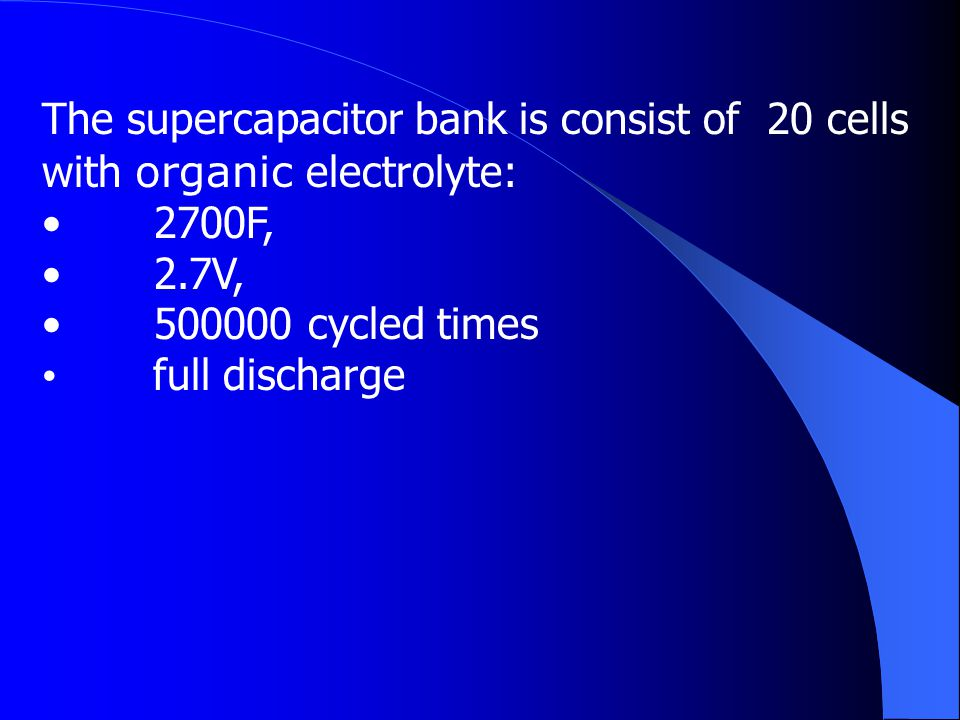 The Principle of Voltage Balancing for serial connected supercapacitor cells The Study of Supercapacitor Bank