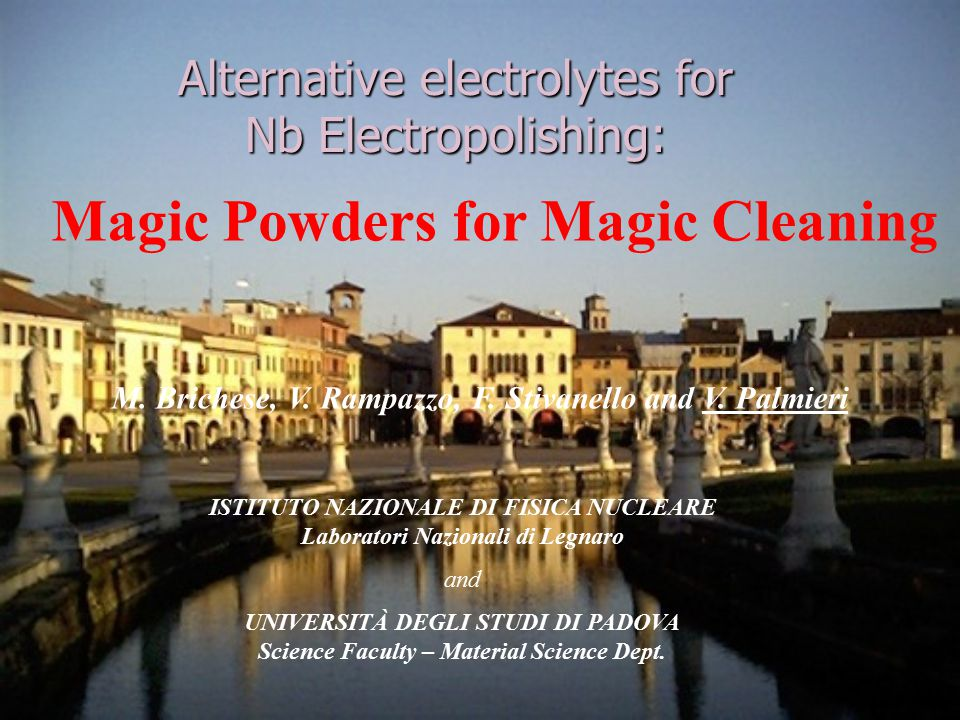 Perchloric acid has been largely used as constituent of electropolishing baths for its peculiar properties, for its easy dissolution in non aqueous media, for its powerful dissolution action of metals and alloys for the remarkable solubility of numerous metallic perchlorates in acid milieu