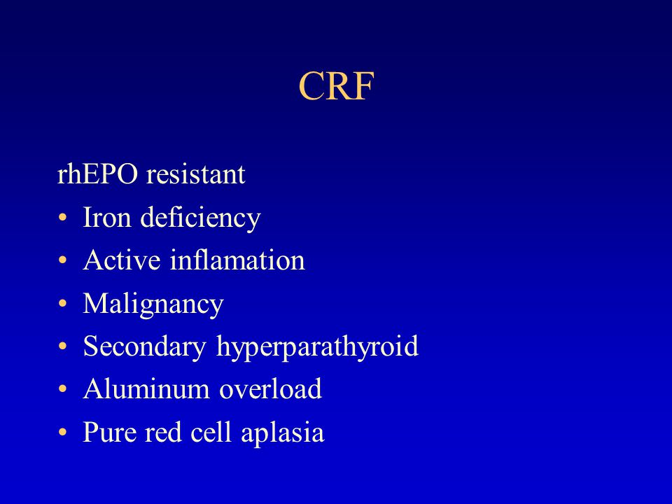 CRF Treatment of renal osteodystropy  Low phosphate diet  Calcium carbonate (1-6g/d)  Vitamin D (0.25ug/d for prophylactic, 0.5ug/d for symptomatic, pulse therapy 2-4ug/d for severe cases)  parathyroidectomy