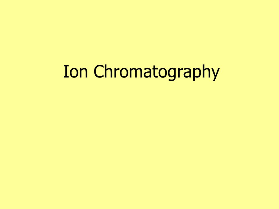 Ion Conductances