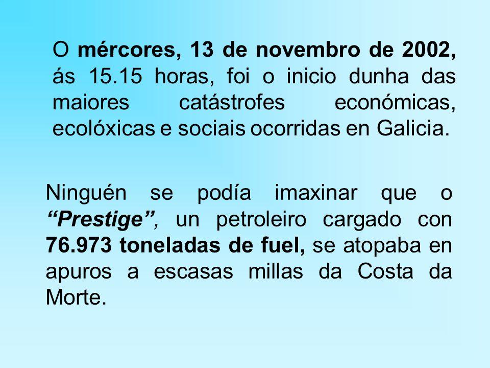 O mércores, 13 de novembro de 2002, ás 15.15 horas, foi o inicio dunha das maiores catástrofes económicas, ecolóxicas e sociais ocorridas en Galicia.