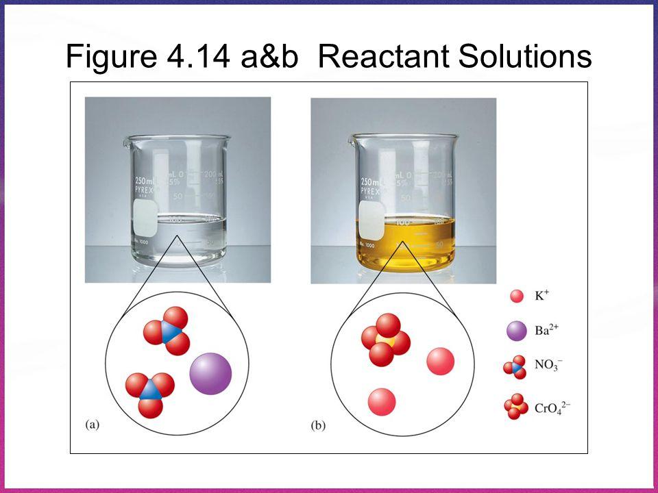 Figure 4.14 a&b Reactant Solutions