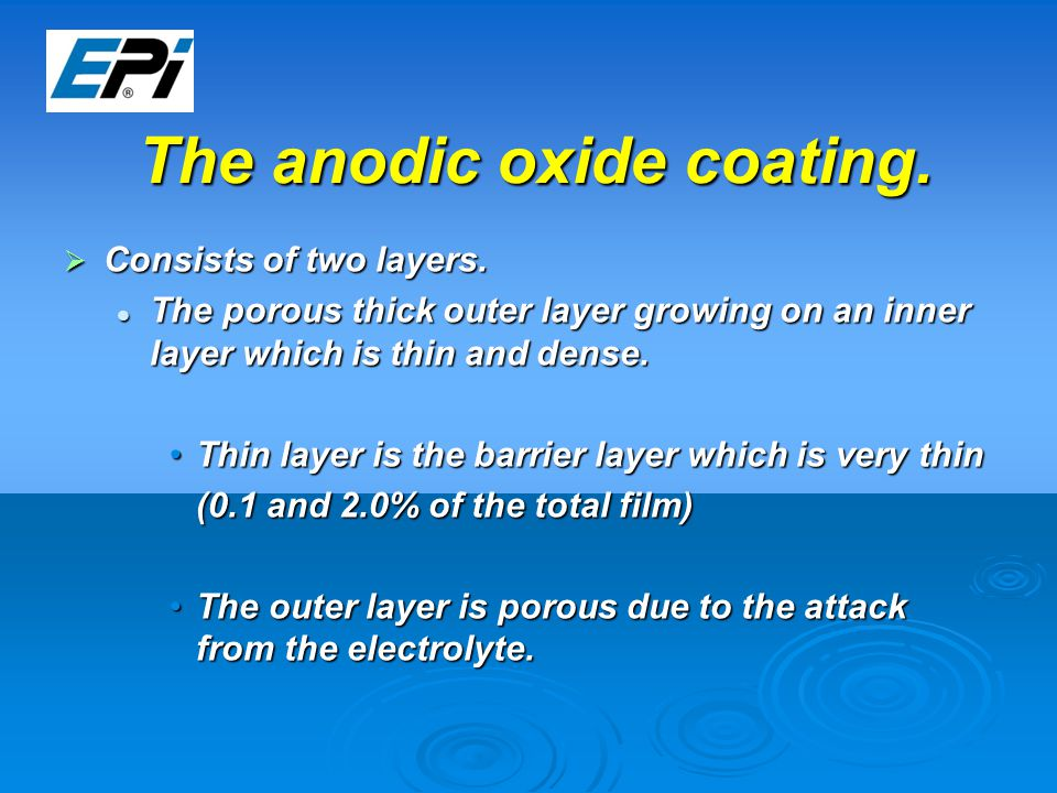 The anodic oxide coating.  Consists of two layers.