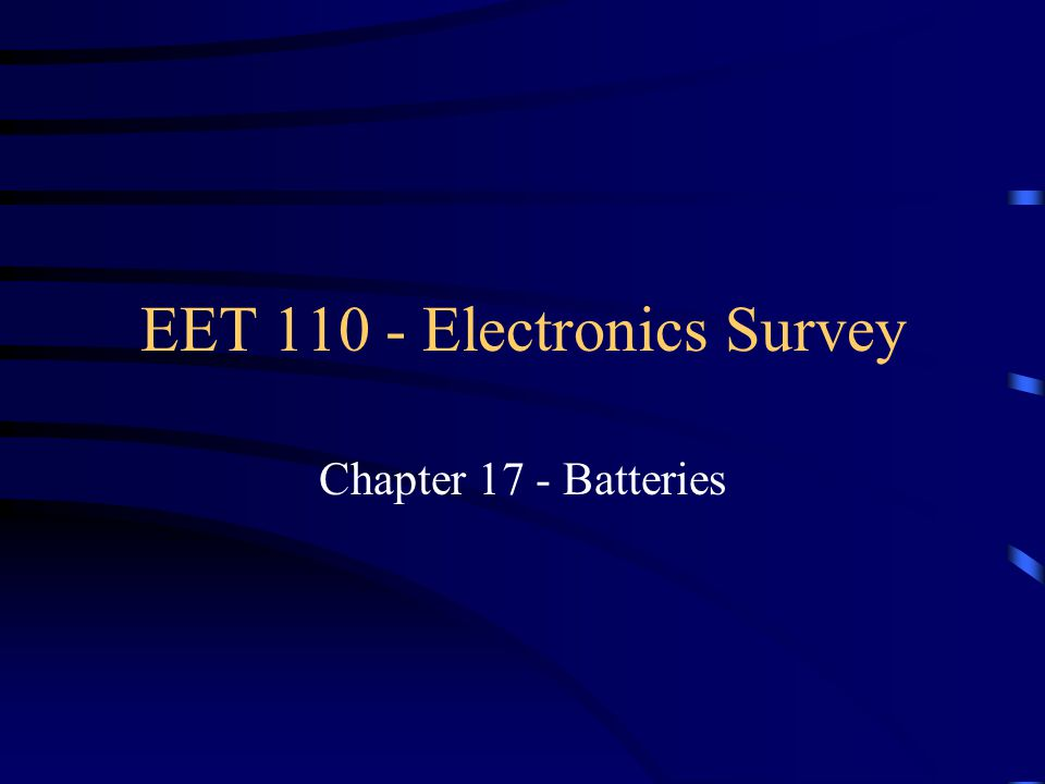 Series and Parallel Batteries Parallel connection –increases the energy capacity of the battery set.