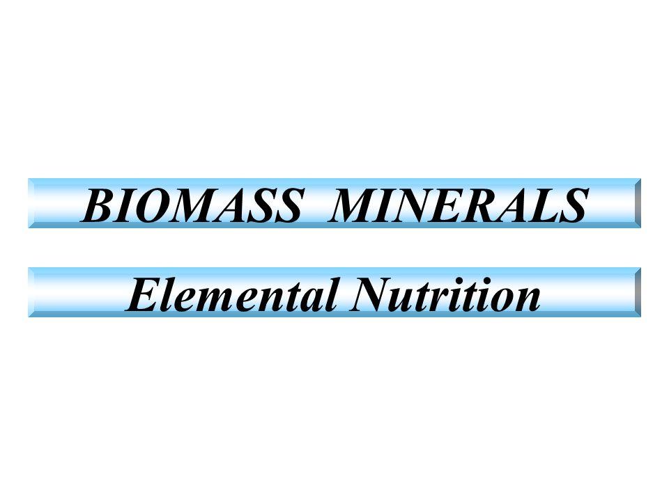 BIOMASS MINERALS Elemental Nutrition