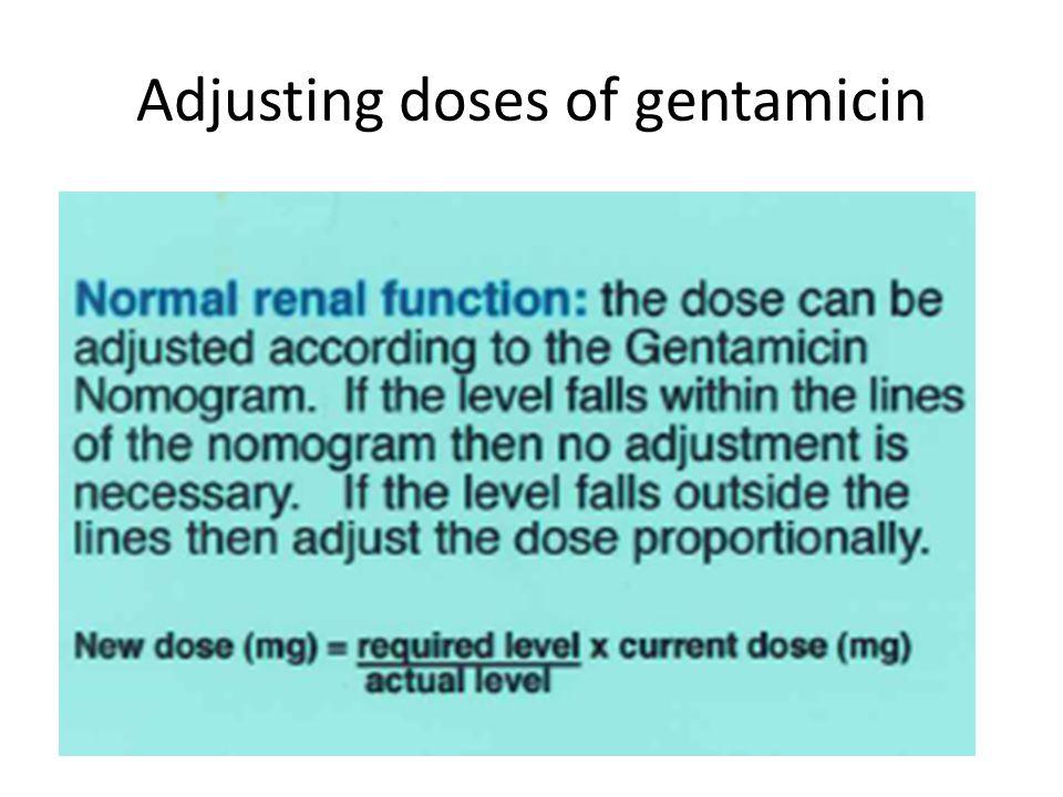 Adjusting doses of gentamicin