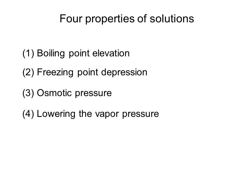 Lowering Vapor Pressure Nonvolatile solute to volatile solvent