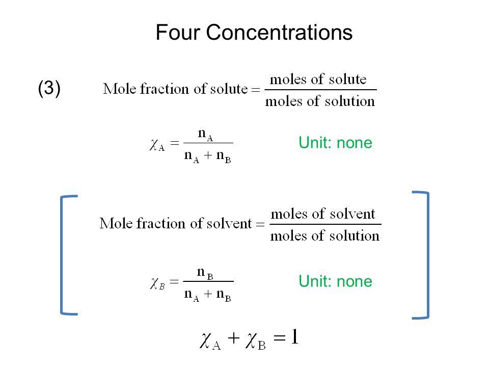 Four Concentrations Unit: mol/kg (4)