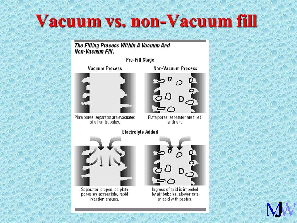 Vacuum vs. non-Vacuum fill