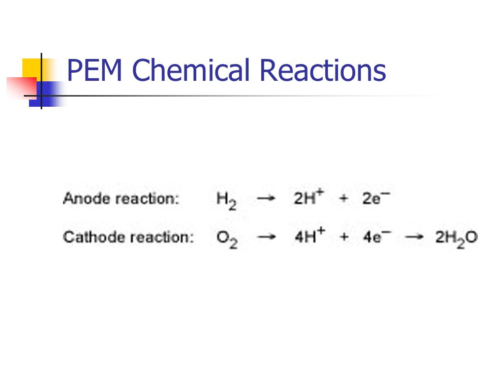 PEM Chemical Reactions