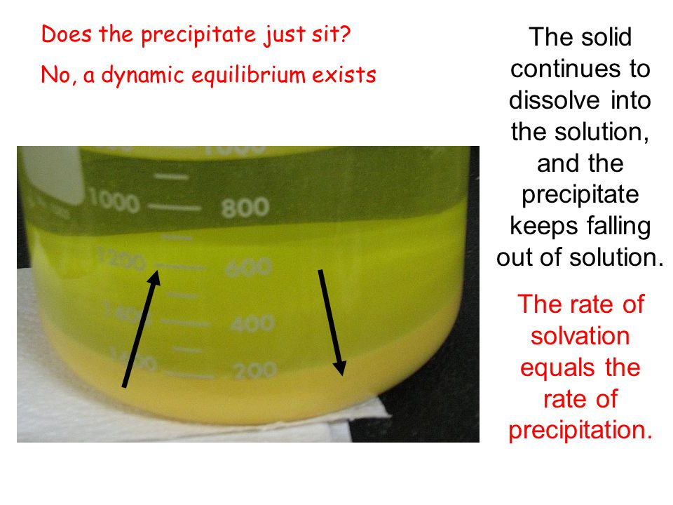 Does the precipitate just sit.