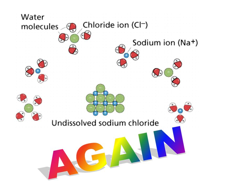 At left, NONPOLAR molecules (possibly oil) are interspersed with water molecules.