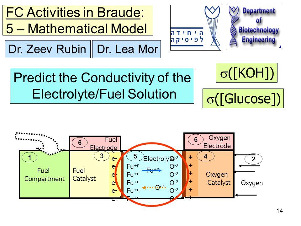 14 O -2 Fu +n O -2 5 Electrolyte Fuel Compartment 1 Fuel Catalyst e- 3 Oxygen Catalyst ++++++++++++ 4 Fuel Electrode 6 Oxygen Electrode 6 Oxygen 2 Dr.