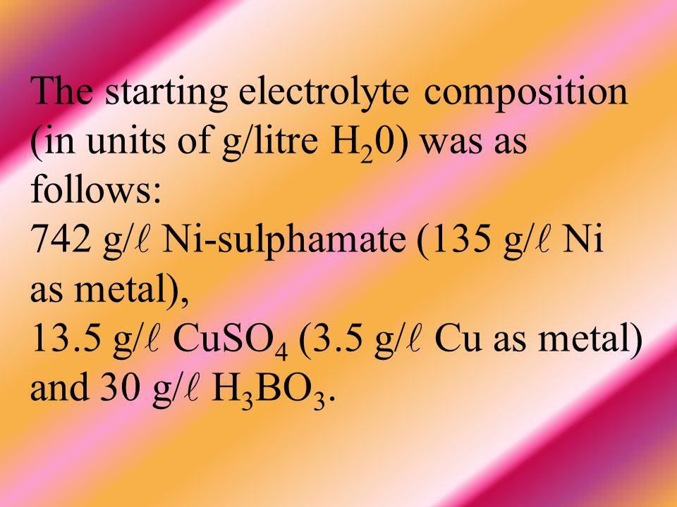 All these considerations led us to perform the present work aimed at investigating the influence of Co- content on the GMR and magnetic properties of Ni-Co-Cu/Cu multilayers by systematically increasing the Co ion concentration in the electrolyte.