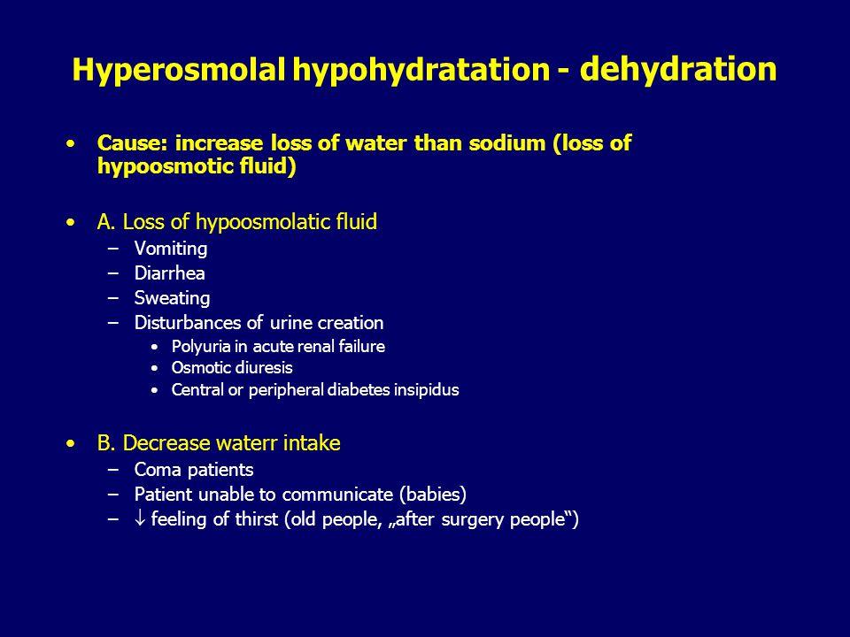 ECF volume deficit (hypovolemia) Consequences:  EABV (  venous return   cardiac output  hypotension) Hemodynamic changes –Tachycardia –Peripheral