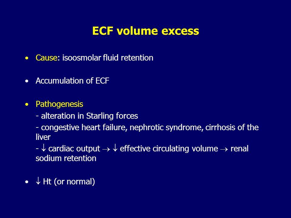 Hyperosmolal hypohydratation - dehydration Consequences: –  ECF osmolaity – cell shrinkage (CNS) - neurological manifestation: agitation, coma, seizu