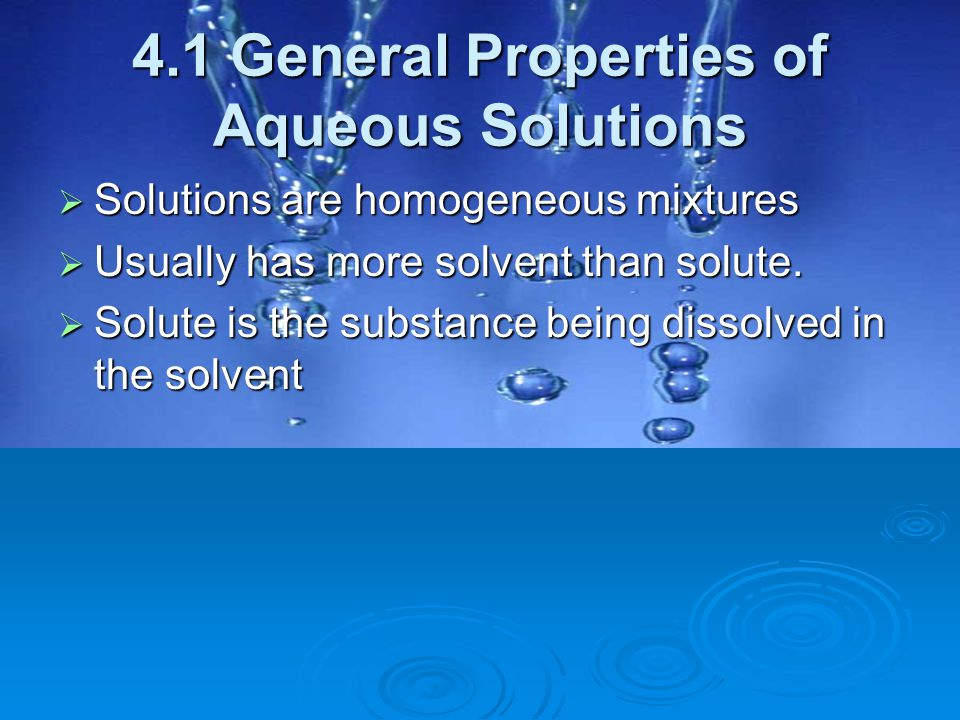 4.5 Concentrations Of Solutions  Concentration = Amount of solute dissolved in a given quantity of solvent or solution.