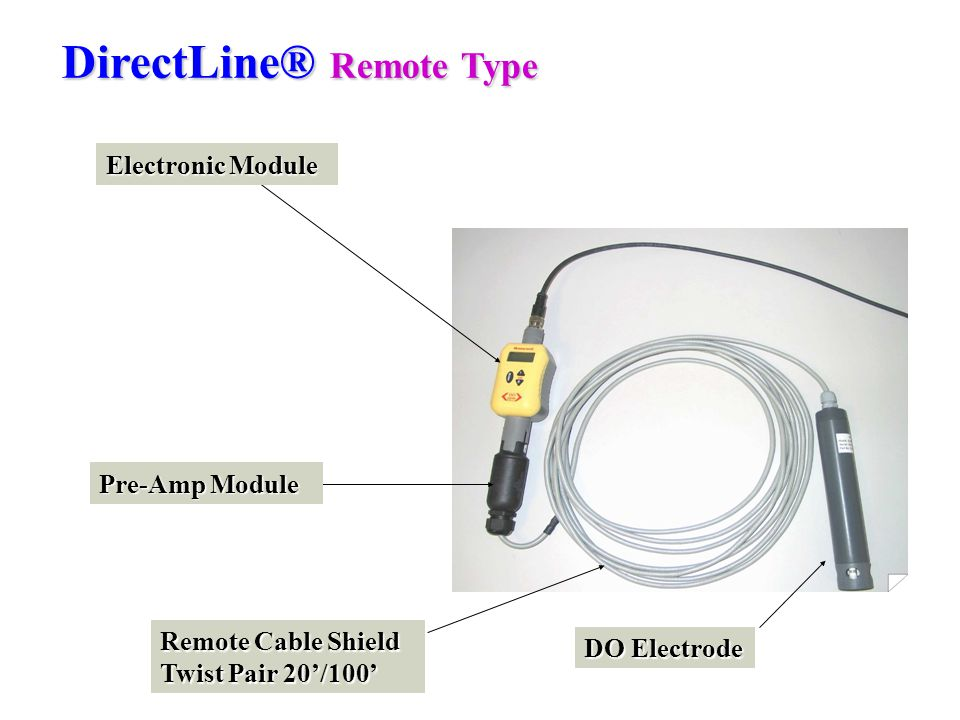 DirectLine® Remote Type Electronic Module Pre-Amp Module DO Electrode Remote Cable Shield Twist Pair 20'/100'