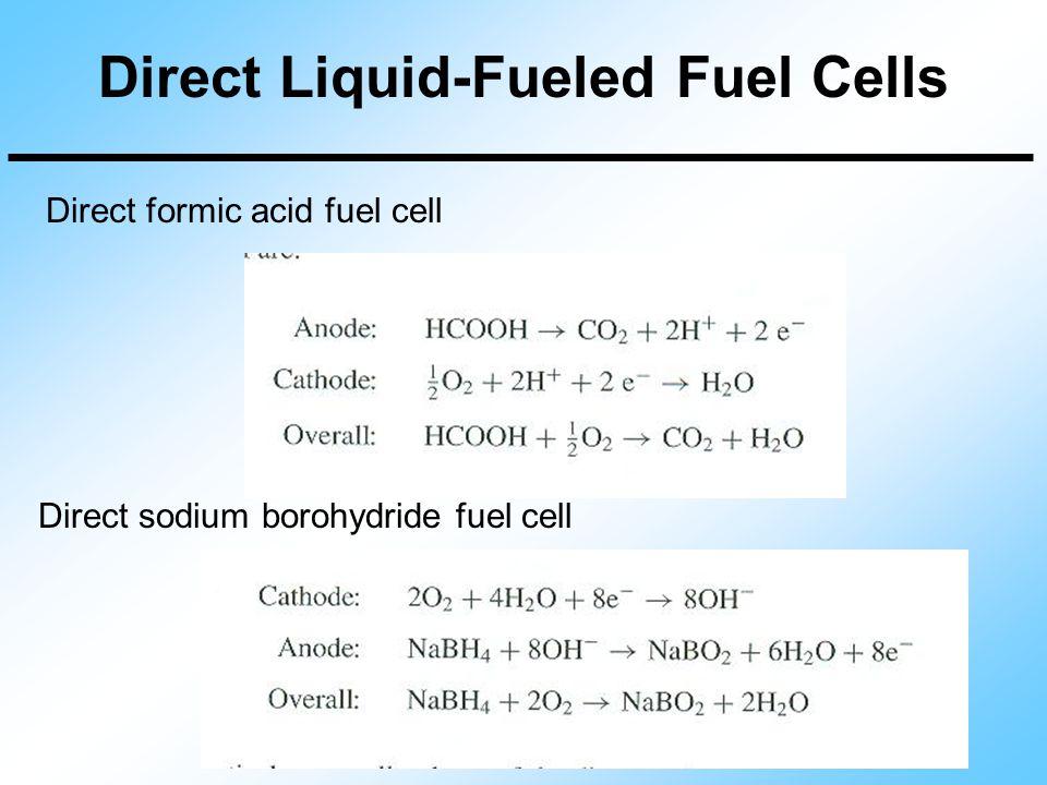Direct Liquid-Fueled Fuel Cells Direct formic acid fuel cell Direct sodium borohydride fuel cell