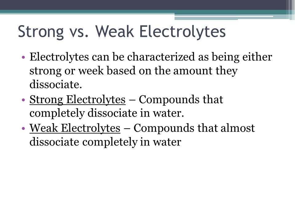 Covalent Compounds are Nonelectrolytes When a ionic compound is dissolved in water, it cannot be broken apart.