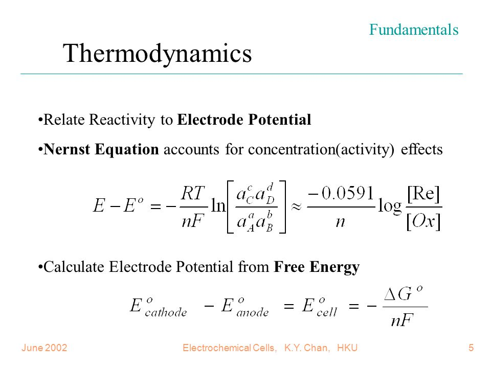 June 2002Electrochemical Cells, K.Y. Chan, HKU46 Performances of different air cathode