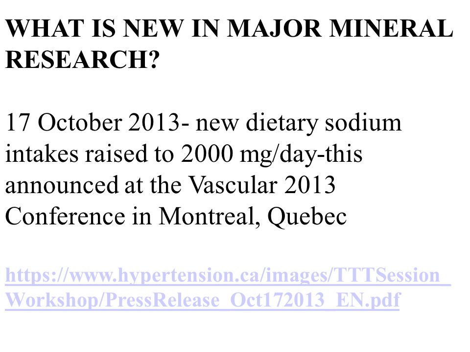 WHAT IS NEW IN MAJOR MINERAL RESEARCH.