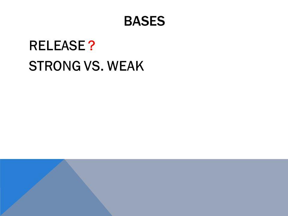 BASES RELEASE ? STRONG VS. WEAK