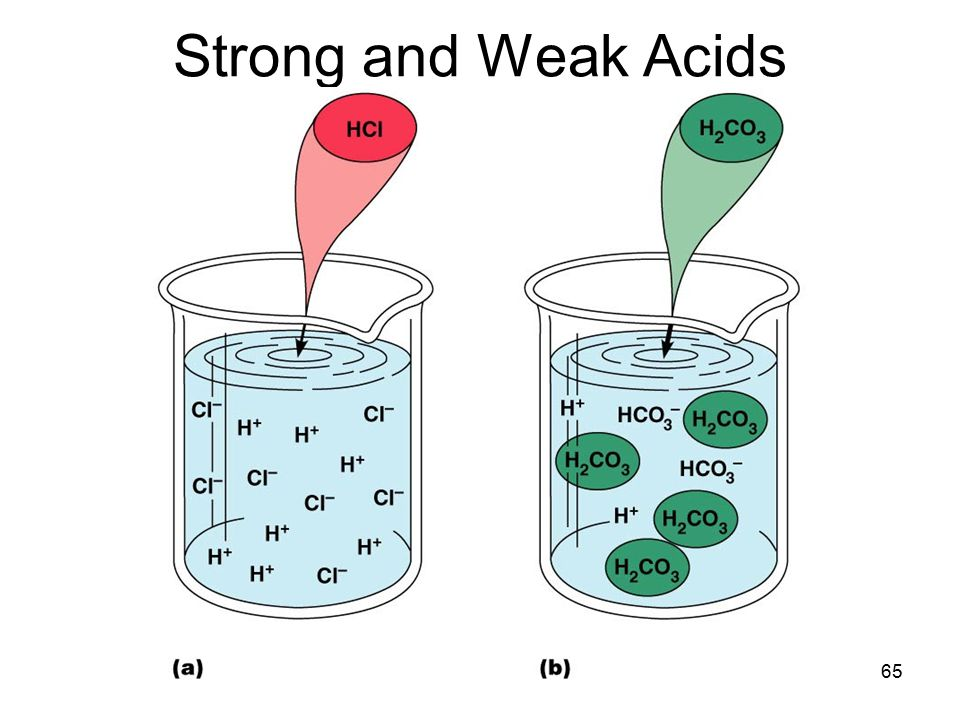 Strong and Weak Acids 65