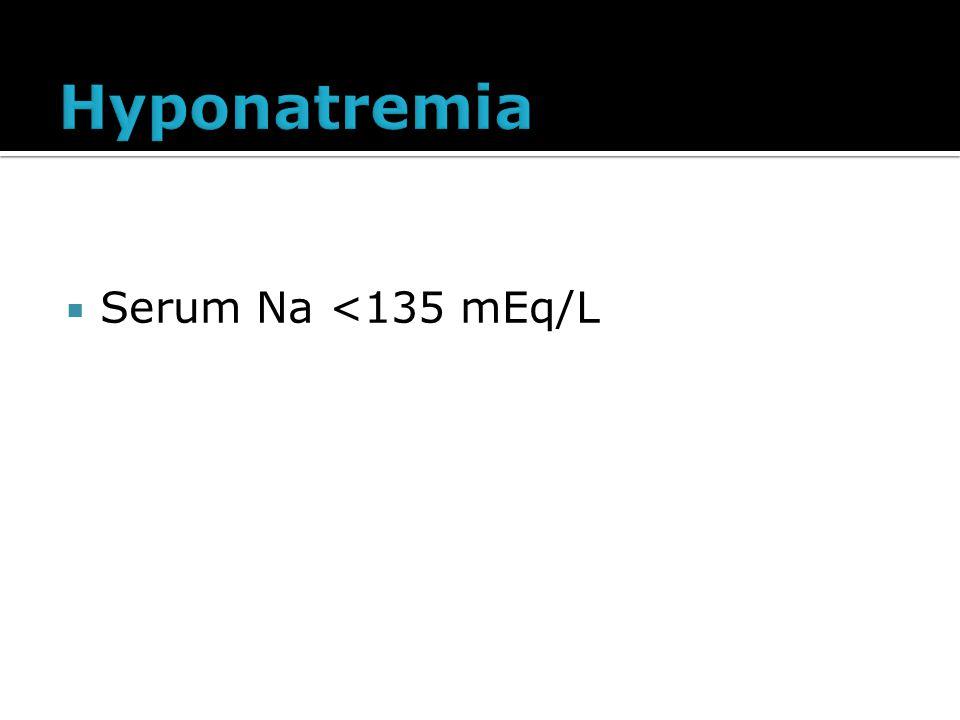  Serum Na <135 mEq/L