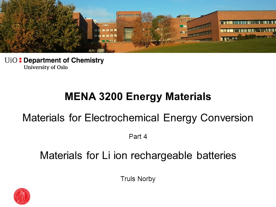 Overview of this part of the course What is electrochemistry.