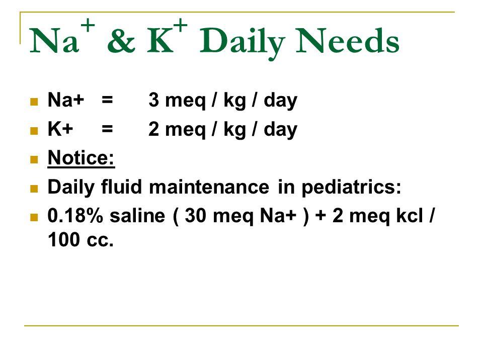 Nursing requirements of FLUID Increased requirement : Fever Vomiting Renal failure Burn Shock Tachypnea Gastroenteritis Diabetes (Insipidus, mellitus - DKA)